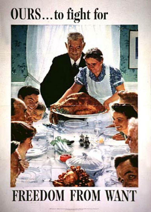 Thanksgiving Americana (Norman Rockwell and Franklin D ...