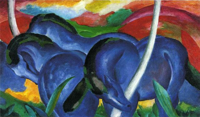 marc blue-horses