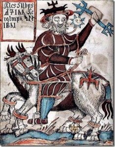 Odin, Wotan's nordic parallel, 18th century