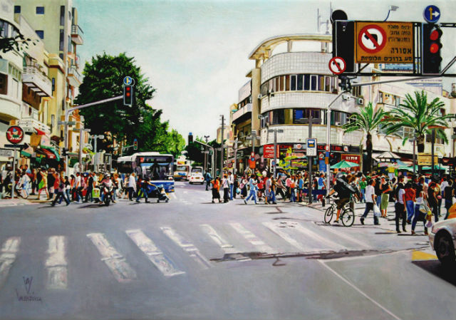 street-allemby-tel-aviv-oil-on-canvas-50x70-cm-2011