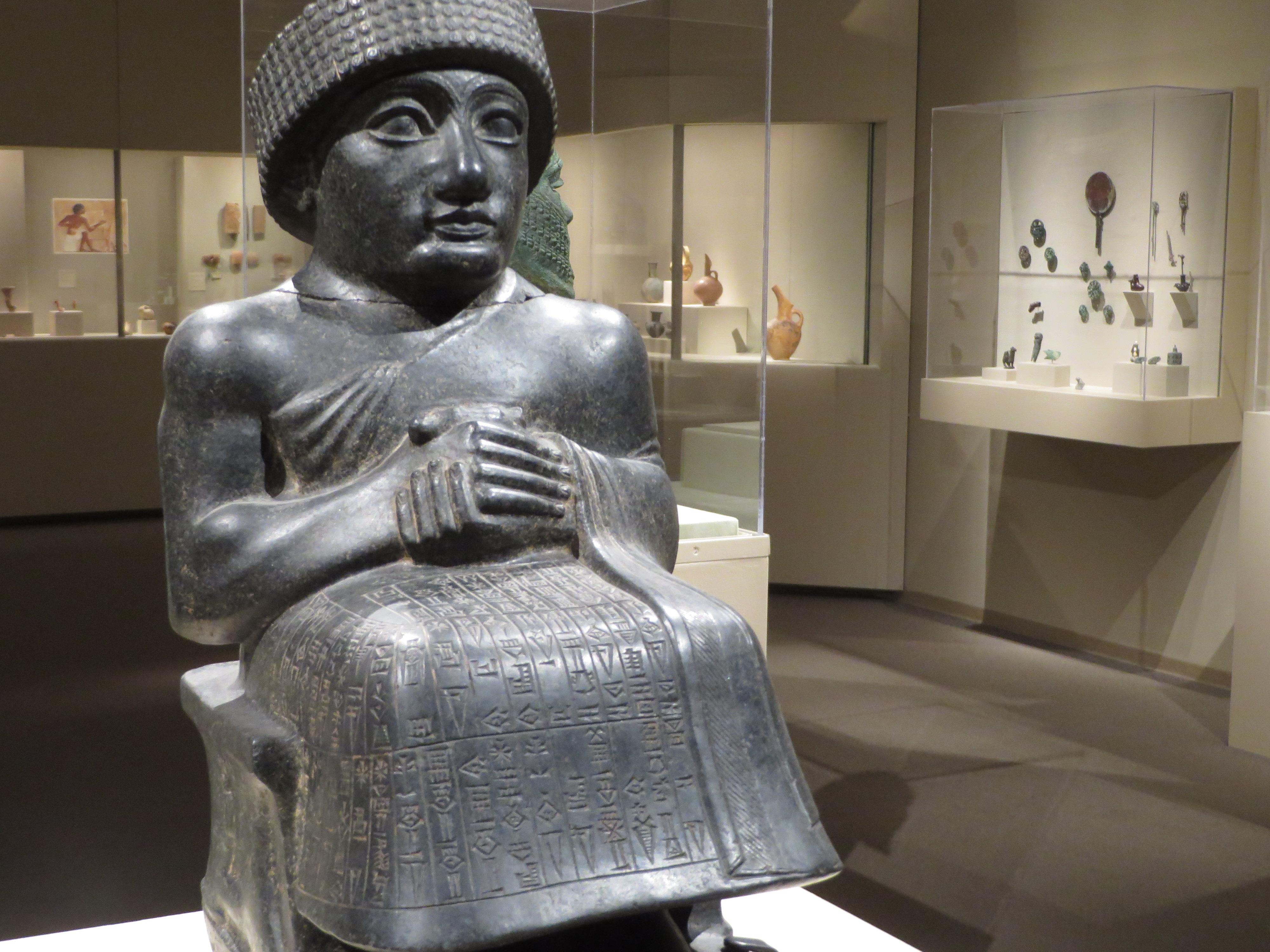 Seated statue of gudea