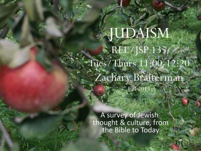 intro to Judaism flyer