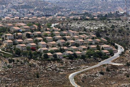 Houses are seen in the West Bank Jewish settlement of Ofra, north of Ramallah